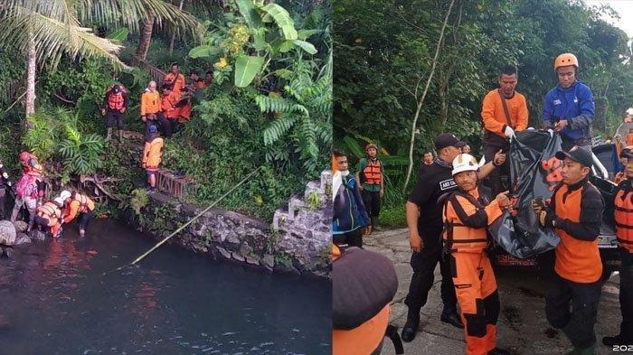 Proses evakuasi korban terakhir yang ditemukan Minggu (23/2/2020).