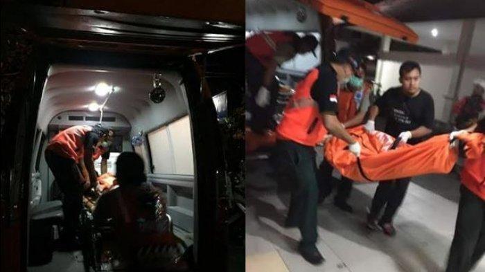 petugas evakuasi jasad wanita di dalam penginapan.Kabar meninggalnya Ni Putu Yuniawati (38) yang ditemukan di kamar sebuah penginapan membuat syok keluarga
