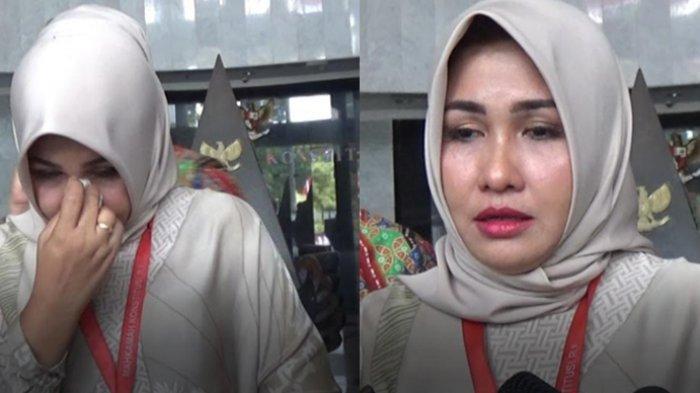 Sambil Terisak Evi Apita Maya Bersyukur Gugatan Lawan Politik Soal Edit Foto Terlalu Cantik Ditolak