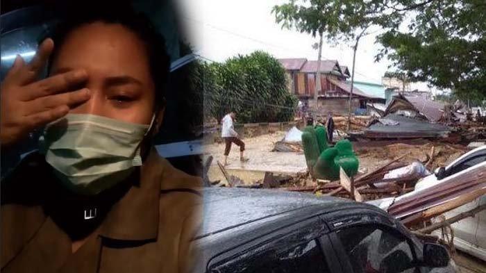 Kota Masamba Porak Poranda Diterjang Banjir Bandang, Evi Masamba Nangis Minta Pertolongan