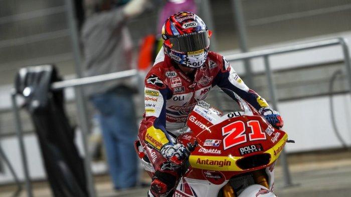 Podium Emosional Fabio di Giannantonio di GP Qatar