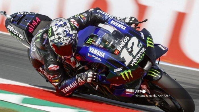 Hasil MotoGP Belanda 2021, <a href='https://manado.tribunnews.com/tag/fabio-quartararo' title='FabioQuartararo'>FabioQuartararo</a> Juara di <a href='https://manado.tribunnews.com/tag/sirkuit-assen' title='SirkuitAssen'>SirkuitAssen</a>, Vinales Kedua dan Rossi Jatuh