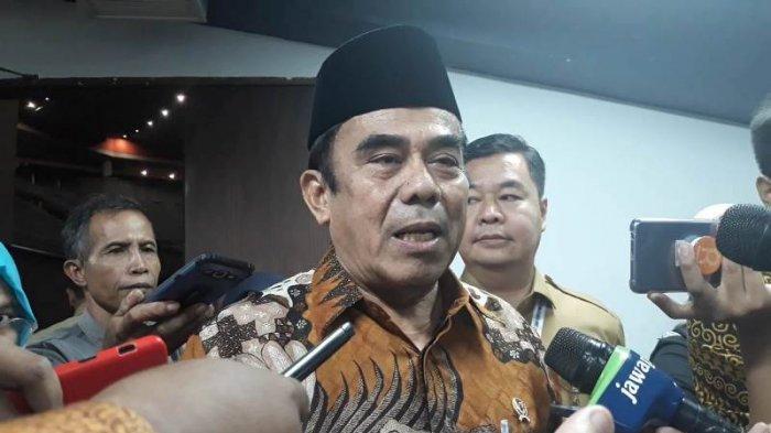 Menteri Agama (Menag) Fachrul Razi saat ditemui usai acara Forkompimda di Sentul Internasional Convention Center (SICC), Bogor, Rabu (13/11/2019).