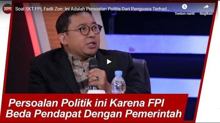 Fadli Zon Yakin FPI Setia Kepada Bangsa dan Negara