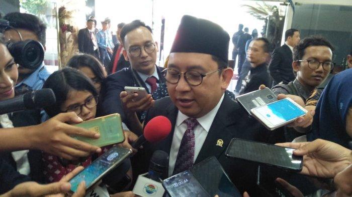 Anggota DPR RI dari Partai Gerindra Fadli Zon, ditemui di kompleks MPR/DPR RI, Senayan, Jakarta, pada Minggu (20/10/2019).
