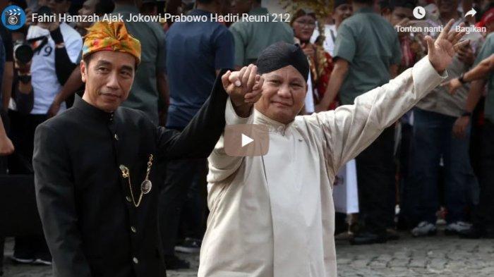 Wakil Ketua DPR RI Fahri Hamzah mengajak calon presiden Joko Widodo dan Prabowo Subianto untuk datang di acara Reuni Akbar 212 yang rencananya digelar akhir pekan ini, Minggu (2/12/2018).