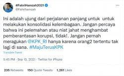 Fahri Hamzah mendukung KPK untuk memecat 56 pegawai tak lolos TWK