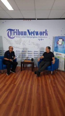 Politikus Fahri Hamzah saat berbincang dengan Direktur Pemberitaan Tribun Network, Kamis (3/6/2021). Fahri membeberkan alasan dirinya melayangkan surat terbuka untuk 1.271 pegawai KPK yang sudah jadi ASN.