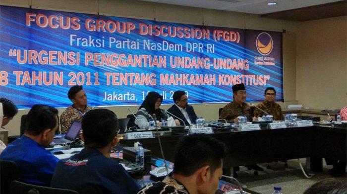 Fraksi Nasdem DPR RI Dorong Penggantian UU No.8 tahun 2011 tentang Mahkamah Konstitusi