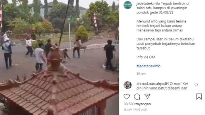 Fakta-fakta 2 Ormas Bentrok di Kampus Unkris Bekasi, Videonya Viral, 1 Orang Tewas dan 3 Terluka
