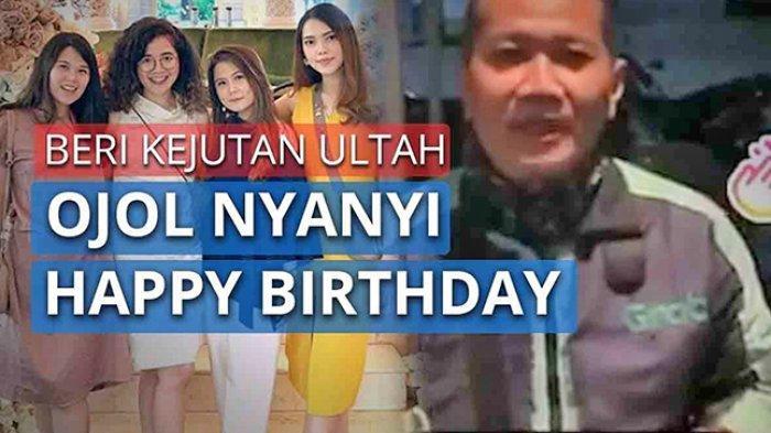 Fakta-fakta Video Viral Driver Ojol di Surabaya Nyanyikan Lagu Happy Birthday untuk Customer