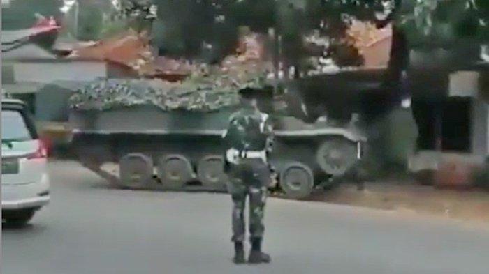 Video Viral TNI Turunkan Tank untuk Penyekatan Mudik di Bekasi-Bogor, Kapendam Jaya Beri Penjelasan