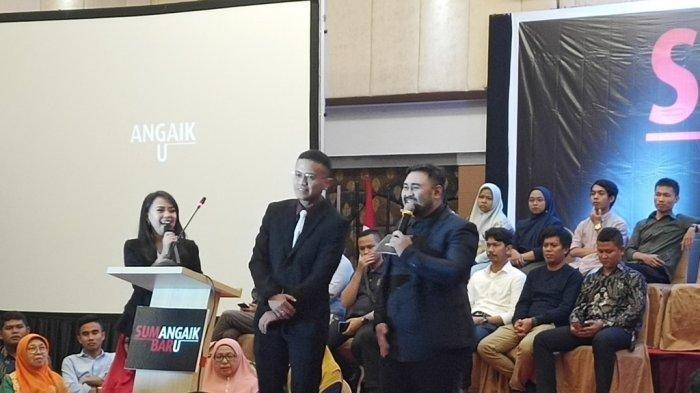 Faldo Maldini saat menyampaikan pidato politik di Hotel Pangeran Padang, Minggu (27/10/2019) silam. PKB Resmi Usung Faldo Maldini-Febby Dt Bangso di Pilgub Sumbar 2020.