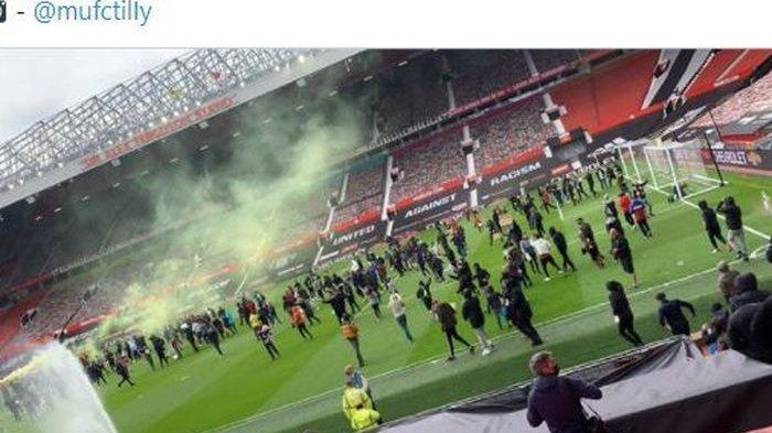 Manchester United Bantah Bantu Pendemo Masuk Lapangan Old Trafford Jelang Laga Lawan Liverpool