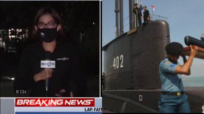 VIRAL Reporter MetroTV Menahan Tangis saat Kabarkan Breaking News KRI Nanggala-402, Terbata-bata