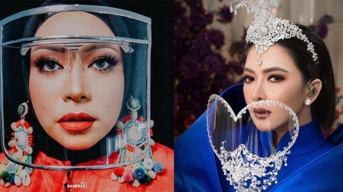 Deretan face shield modis yang digunakan oleh artis dan musisi ternama di Indonesia. Ini Gaya Face Shield Modis Melly Goeslaw hingga Syahrini.