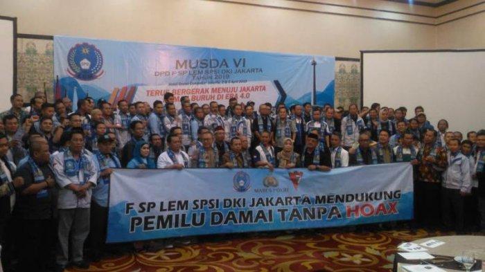 FSP LEM SPSI DKI Jakarta Dukung TNI-Polri Sajikan Pemilu Damai