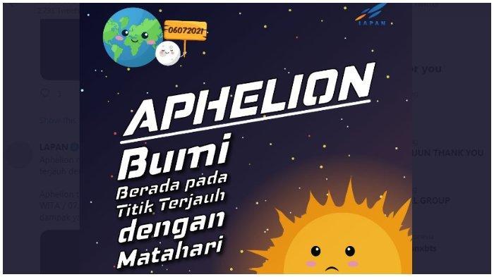 Apa Itu Fenomena Aphelion? Bukan Penyebab Suhu Dingin, Ini Penjelasannya