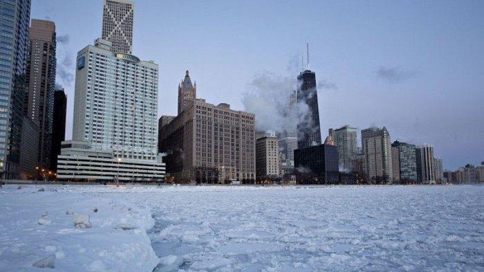 Potret Polar Vortex di Amerika Serikat yang Disebarkan Warganet di Media Sosial