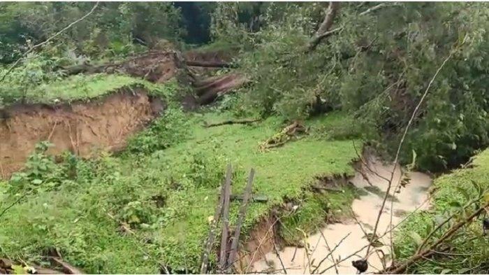 Fenomena Tanah Bergerak di Aceh Besar, Pohon-pohon Tumbang, Sejumlah Makam Rusak