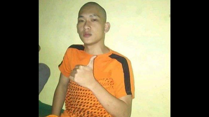 Foto diduga Ferdian Paleka setelah menghuni tahanan di Polrestabes bandung