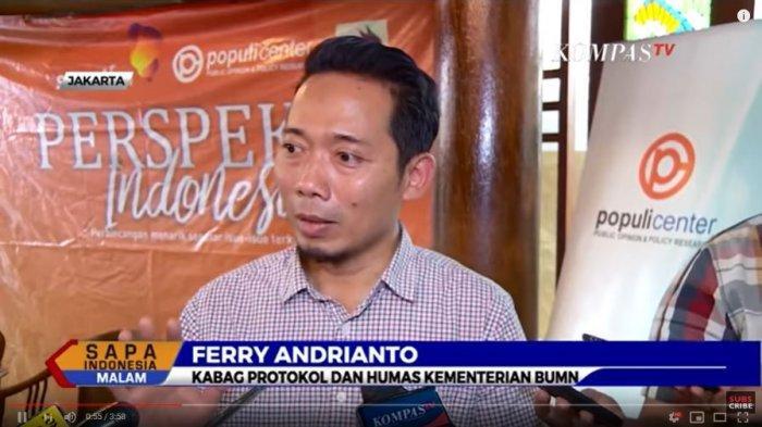 Tangkap Layar YouTube KompasTV Ferry Andrianto Kabag Protokol dan Human Kementerian BUMN