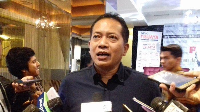 Juru Bicara Badan Pemenangan Nasional (BPN) Prabowo-Sandi, Ferry Juliantono mengkritisi penyelenggara pemilu atau KPU , dalam sebuah diskusi di kawasan Jakarta Pusat, Sabtu (15/12/2018)