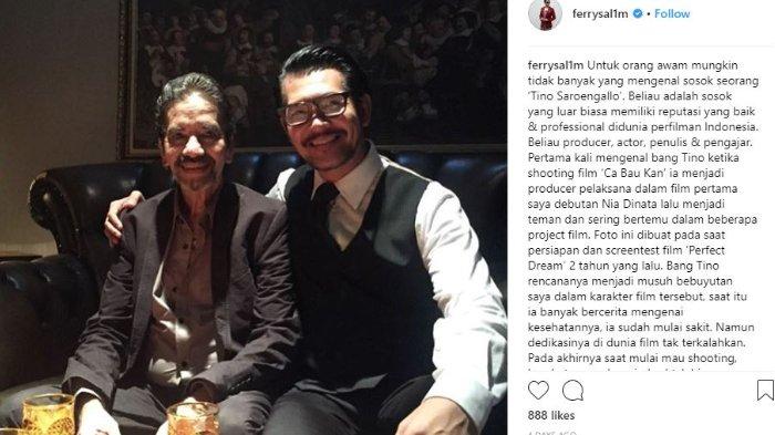 Ucapan Duka Mengalir Mengiringi Kepergian Sineas Indonesia Tino Saroengallo