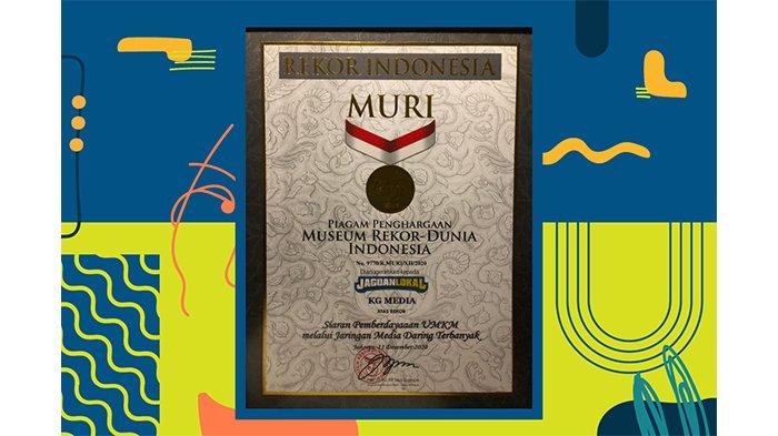 Selamat! Festival Jagoan Lokal, Pestanya UMKM Indonesia Mendapatkan MURI Live Streaming Terbanyak