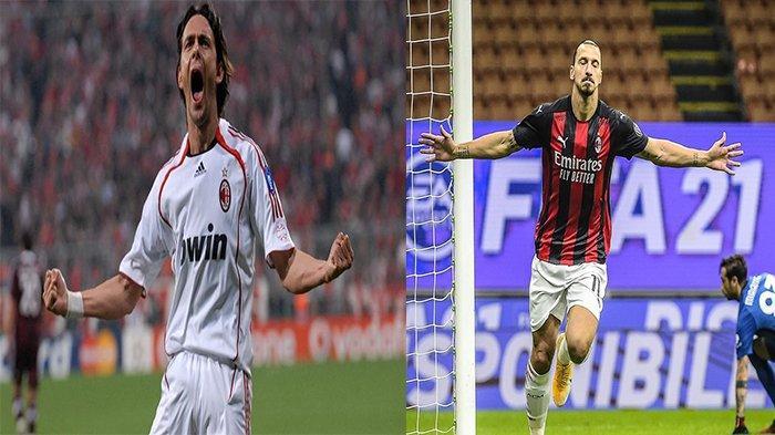 AC Milan vs Lille: Ibrahimovic di Ambang Pecahkan Rekor sang Legenda Filippo Inzaghi
