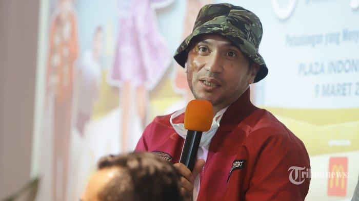 Aktor Gary Iskak saat konferensi pers usai press screening film Buku Harianku di Jakarta, Senin (9/3/2020). Film yang menceritakan sebuah drama petualangan anak yang menyatukan keluarga itu akan tayang di bioskop mulai 12 Maret 2020. TRIBUNNEWS/HERUDIN