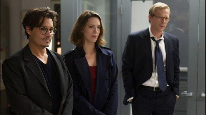 Johnny Depp, Paul Bettany, dan Rebecca Hall dalam Film Transcendence (2014)
