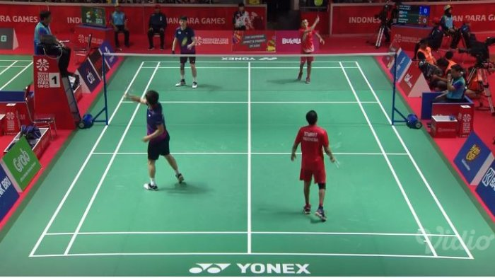 Sedang Berlangsung Live Streaming Final Ganda Putra Indonesia VS Korea Selatan Asian Para Games 2018