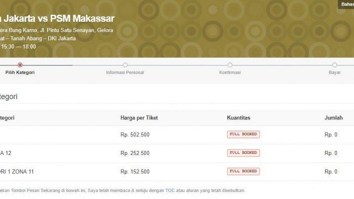 Final Piala Indonesia Persija Vs Psm Tiket Online Pertandingan Full