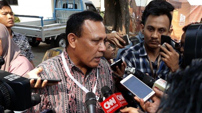 Capim Komisi Pemberantasan Korupsi Irjen Firli Bahuri menjalani tes wawancara dan uji publik di Gedung 3 Lantai 1, Setneg, Jakarta Pusat, Selasa (27/8/2019)