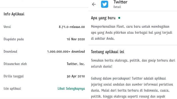 Tangkap layar fitur terbaru Twitter. Perbarui aplikasi Twitter di PlayStore atau App Store ke versi 8.71.0 (Android) dan versi 8.44 (iOS).