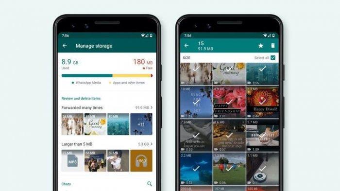 Fitur Storage Management di aplikasi WhatsApp. Cara Menggunakan 5 Fitur Baru WhatsApp yang Dirilis Tahun 2020, Advanced Search hingga Always Mute. (macrumors)