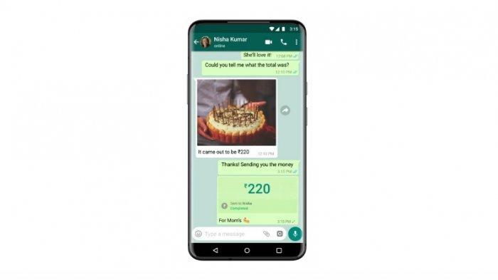Fitur WhatsApp Payment yang dapat memudahkan pengguna untuk melakukan transaksi.