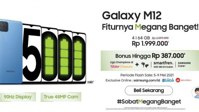 Flash Sale Samsung Galaxy M12 Mulai Hari Ini, Berikut Harga dan Spesifikasinya