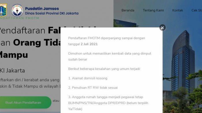 Diperpanjang hingga 2 Juli 2021, Ini Cara Daftar FMOTM DKI Jakarta, Akses fmotm.jakarta.go.id