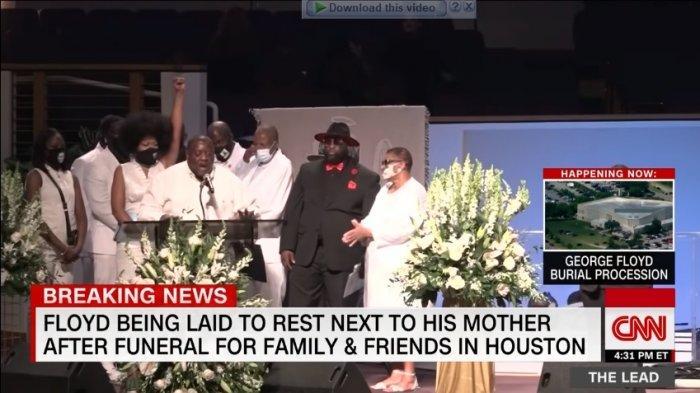 Prosesi Pemakaman George Floyd di Houston, Texas