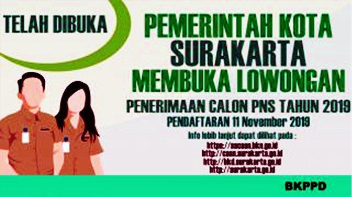 Formasi tenaga pendidikan CPNS 2019 Pemkot Surakarta