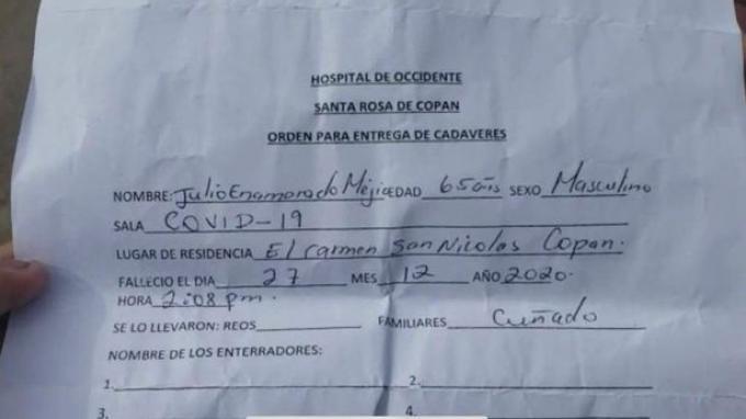 formulir yang dikeluarkan rumah sakit