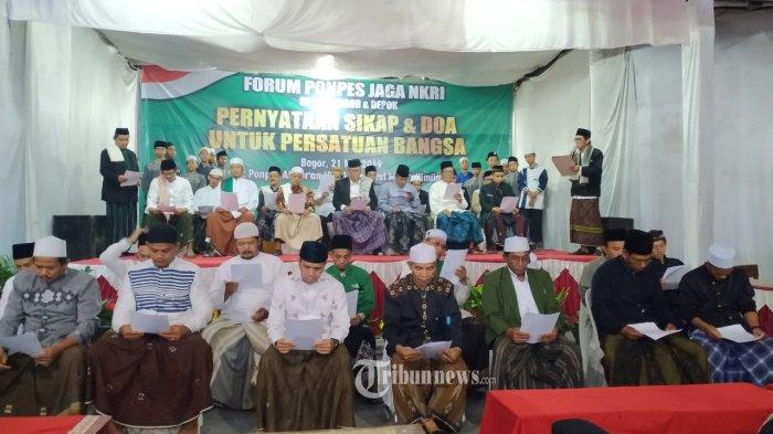 Pasca Pengungkapan Teroris di Cibinong, 52 Ponpes di Depok dan Bogor Perkuat Barisan Jaga NKRI