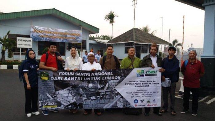 Forum Santri Nasional Salurkan Bantuan untuk Korban Gempa di Lombok Utara