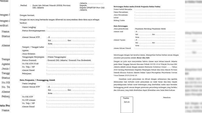 Formulir untuk mendaftar SIKM
