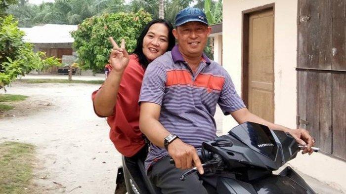 Foto Aiptu Pariadi dan istrinya Fitri semasa hidup (Facebook)