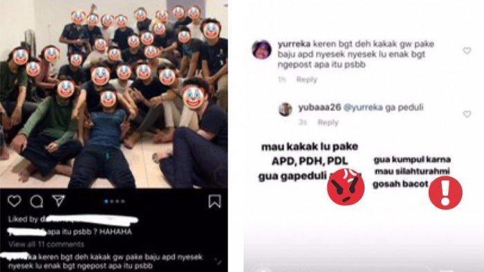 Viral Foto Pemuda Bukber di Tengah Pandemi, Diingatkan soal PSBB Jawabannya Bikin Netizen Emosi