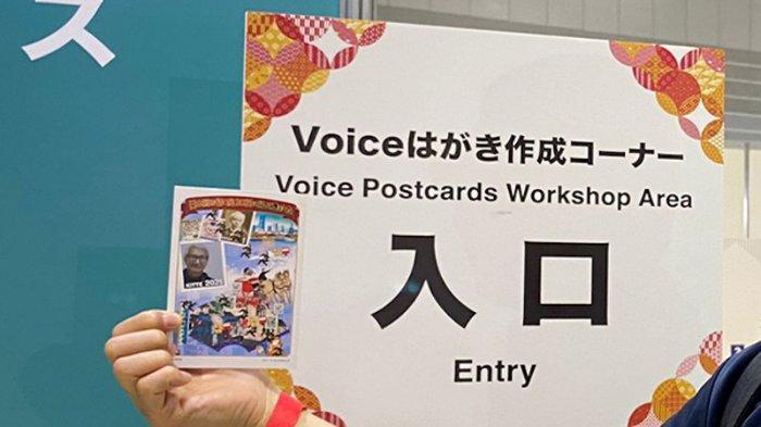 Menarik! Bikin Desain Kartu Pos Jepang dari Suara Sendiri di Pameran Internasional PhilaNippon