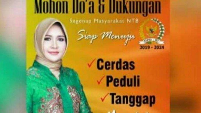 Foto Evi Apita Maya, peraih suara terbanyak calon DPD RI wilayah NTB.